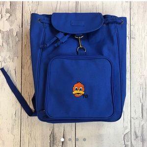 Vintage Duck Backpack Blue orange mint condition